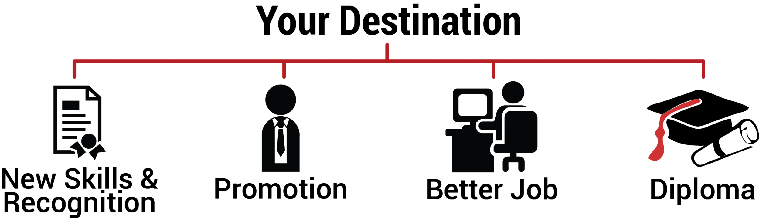DESTINATION- with diploma