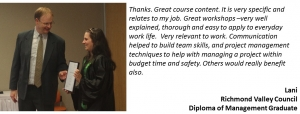 The Diploma of Management online is practical