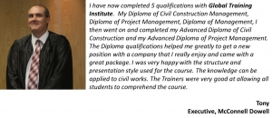 Advanced Diploma of project Management Online testimonial