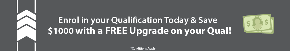 Enrol in an online qualification at Global Training Institute in July and receive $1000 work of a FREE service upgrade!