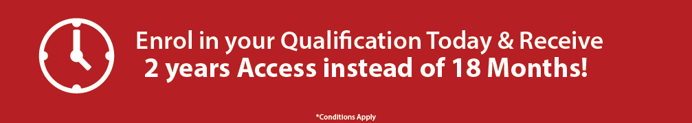 Receive two years access of your qualification instead of eighteen months when you enrol in a Global Training Institute qualification in June!