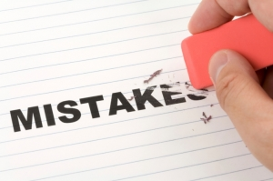 Blot out your mistakes.